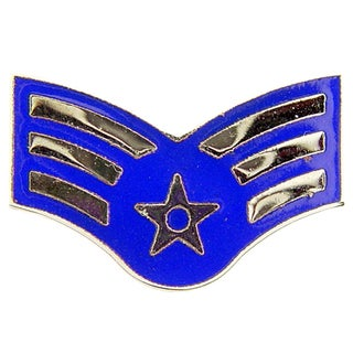 US Air Force Senior Airman Fourth Enlisted Rank Lapel Pin