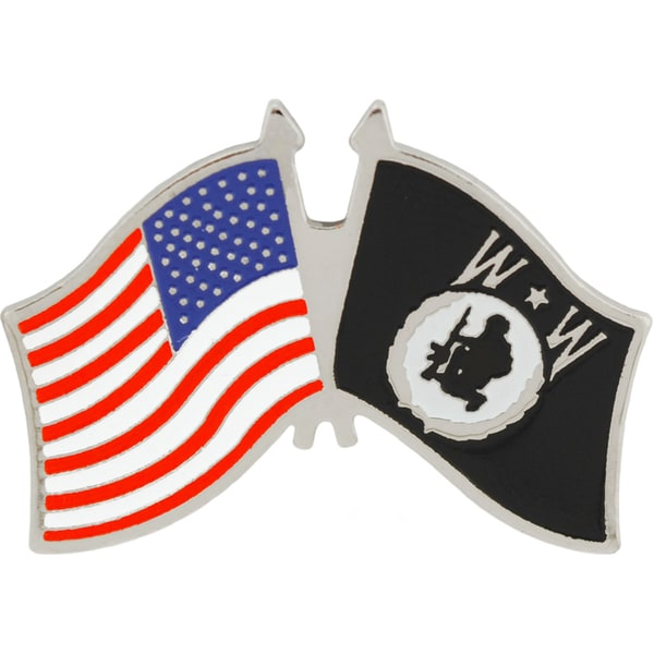 Wounded Warrior USA Flag Military Lapel Pin