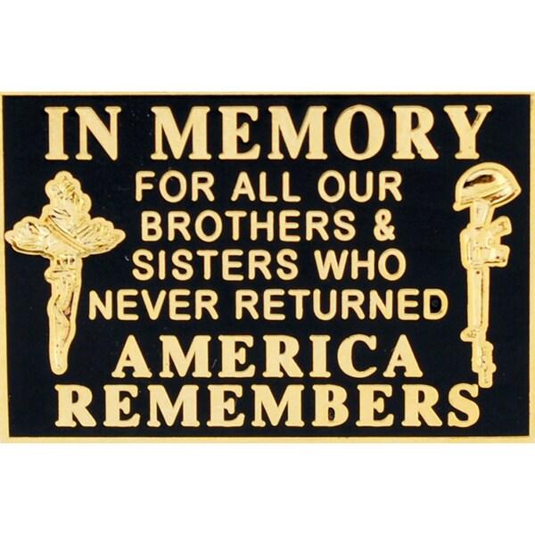 Memorial Flag Military Lapel Pin