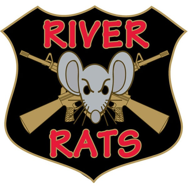 Vietnam River Rats Military Lapel Pin