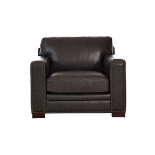 Florence Grey Leather Chair