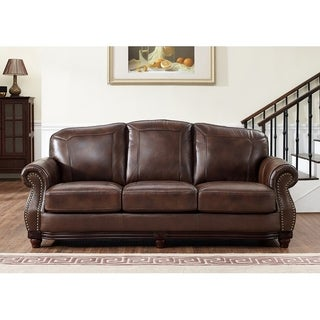 Mesa Brown Leather Sofa
