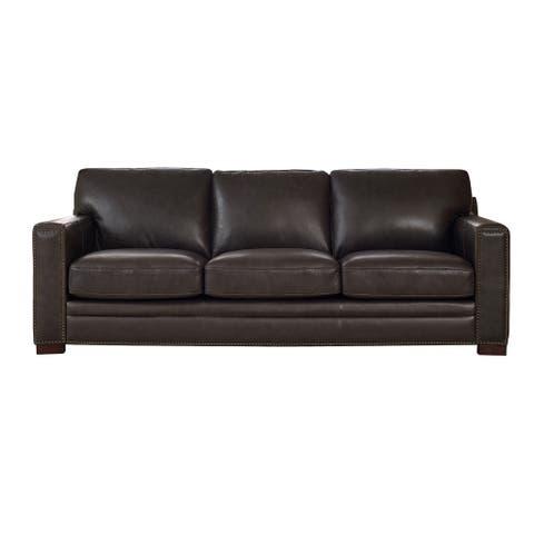 Florence Grey Leather Sofa