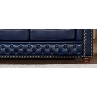 Prime Shop Tuscon Blue Leather Tufted Sofa On Sale Free Creativecarmelina Interior Chair Design Creativecarmelinacom