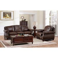 Mesa Brown Leather Sofa and Chair Set