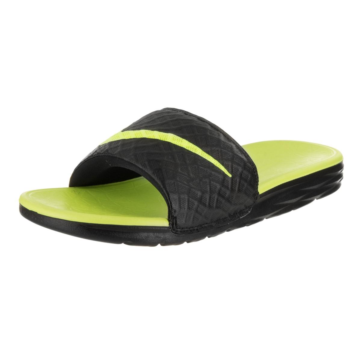 Nike Men's Benassi Solarsoft Sandal (13), Black (leather)