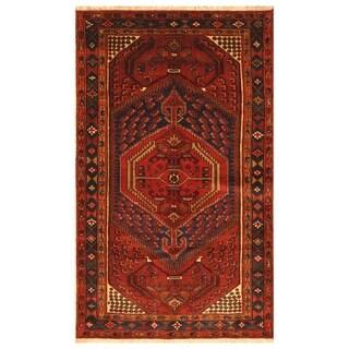 Handmade One-of-a-Kind Hamadan Wool Rug (Iran) - 4'5 x 7'3