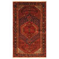 Herat Oriental Persian Hand-knotted Tribal Hamadan Wool Rug (4'5 x 7'3)