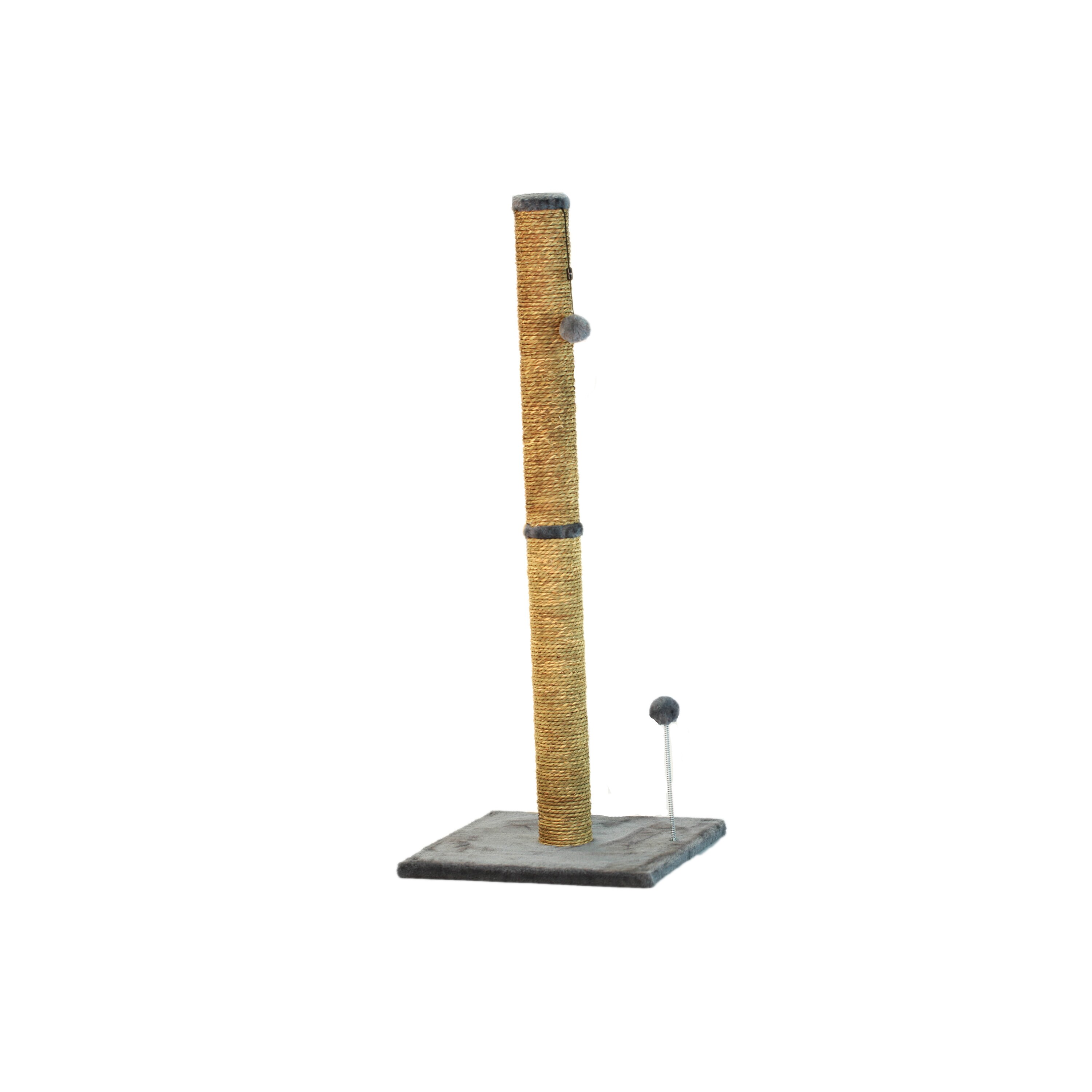 "International 40"" Sea Grass Grey Fur Cat Scratching Post ..."