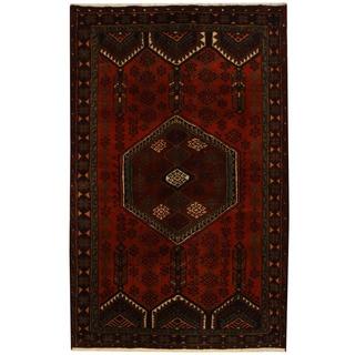 Herat Oriental Persian Hand-knotted Tribal Hamadan Wool Rug (4'2 x 6'5)