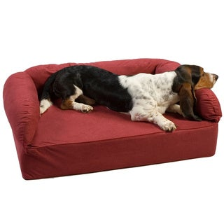 Snoozer Luxury Pet Sofa , Luxury Solids Collection (Polyester - Large - Suede - Traditional - Red)