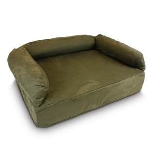 Snoozer Luxury Pet Sofa , Luxury Solids Collection (Polyester - Extra Large - Microfiber - Formal - Green)