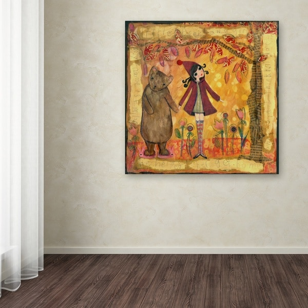 Wyanne 'Big Eyed Girl He Helped Her Get Back Home' Canvas Art