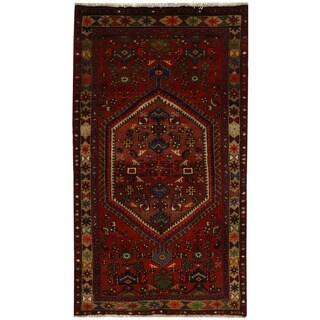 Herat Oriental Persian Hand-knotted Tribal Hamadan Wool Rug (3'7 x 6'3)