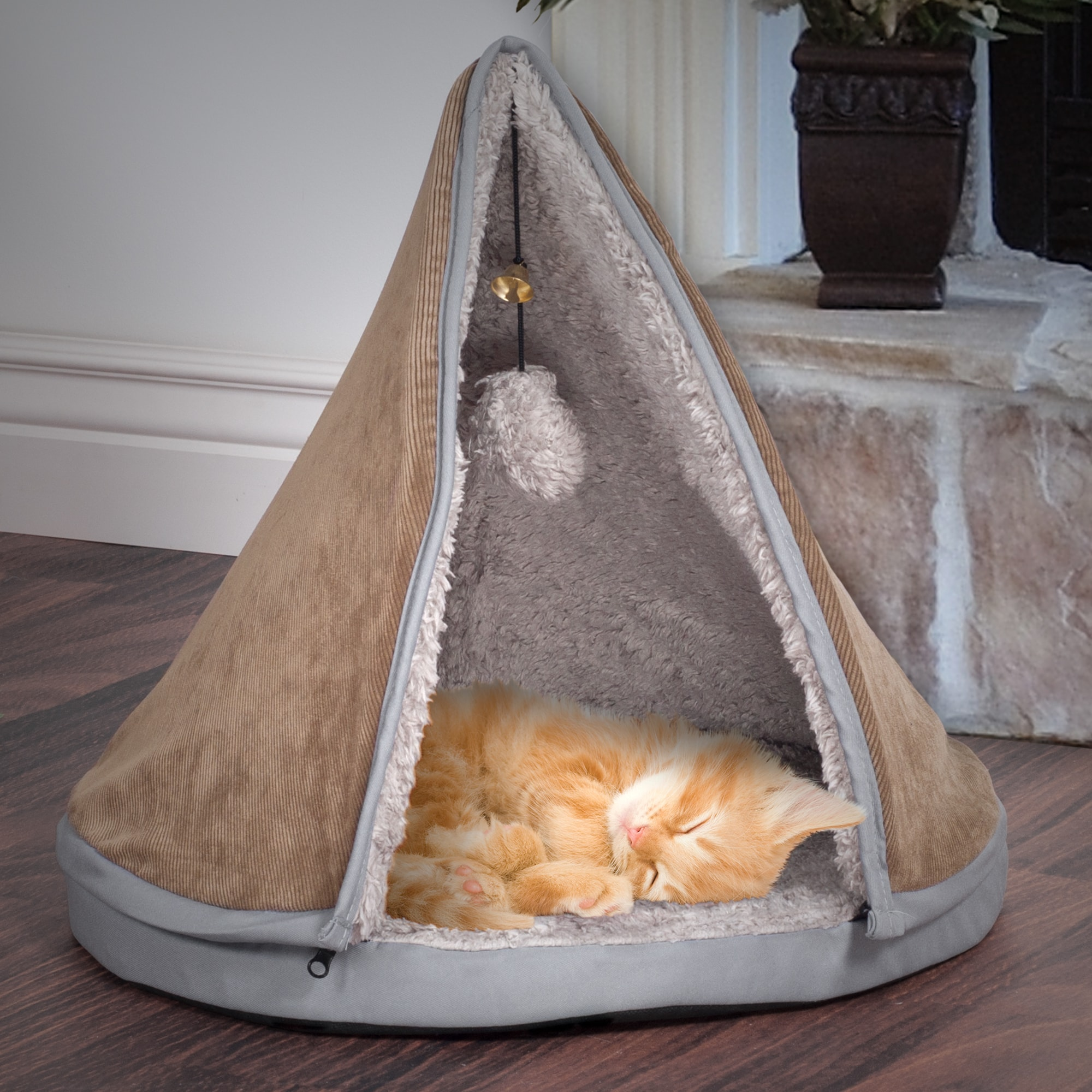"""Petmaker 18"""" Sleep & Play Cat Bed Removable Teepee Top (P..."""
