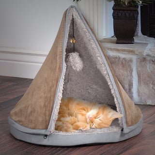 "PETMAKER 18"" Sleep & Play Cat Bed Removable Teepee Top"