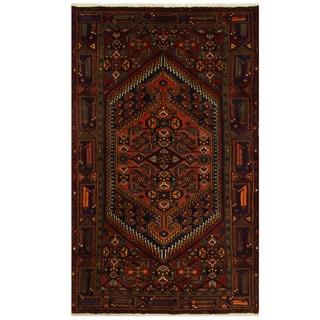 Herat Oriental Persian Hand-knotted Tribal Hamadan Wool Rug (3'11 x 6'3)