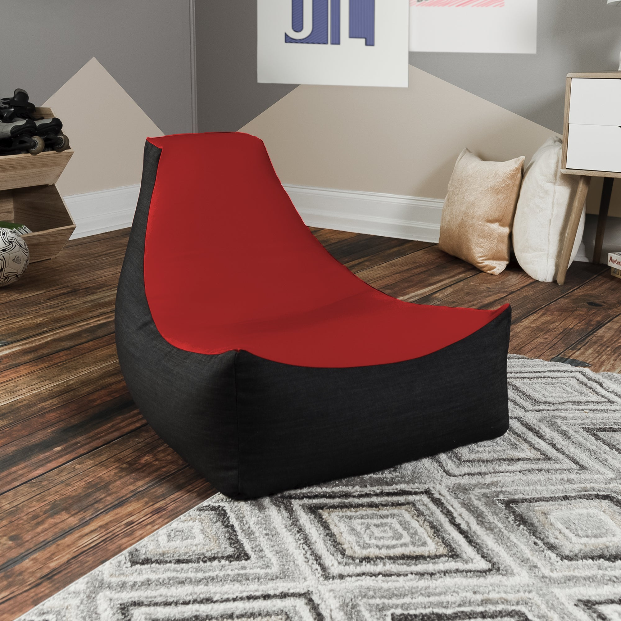 Terrific Details About Jaxx Strato Bean Bag Gaming Chair Caraccident5 Cool Chair Designs And Ideas Caraccident5Info