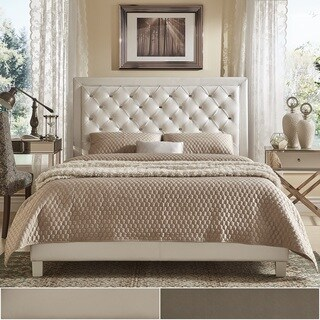 Alayna Faux Leather Tufted Bed by iNSPIRE Q Bold