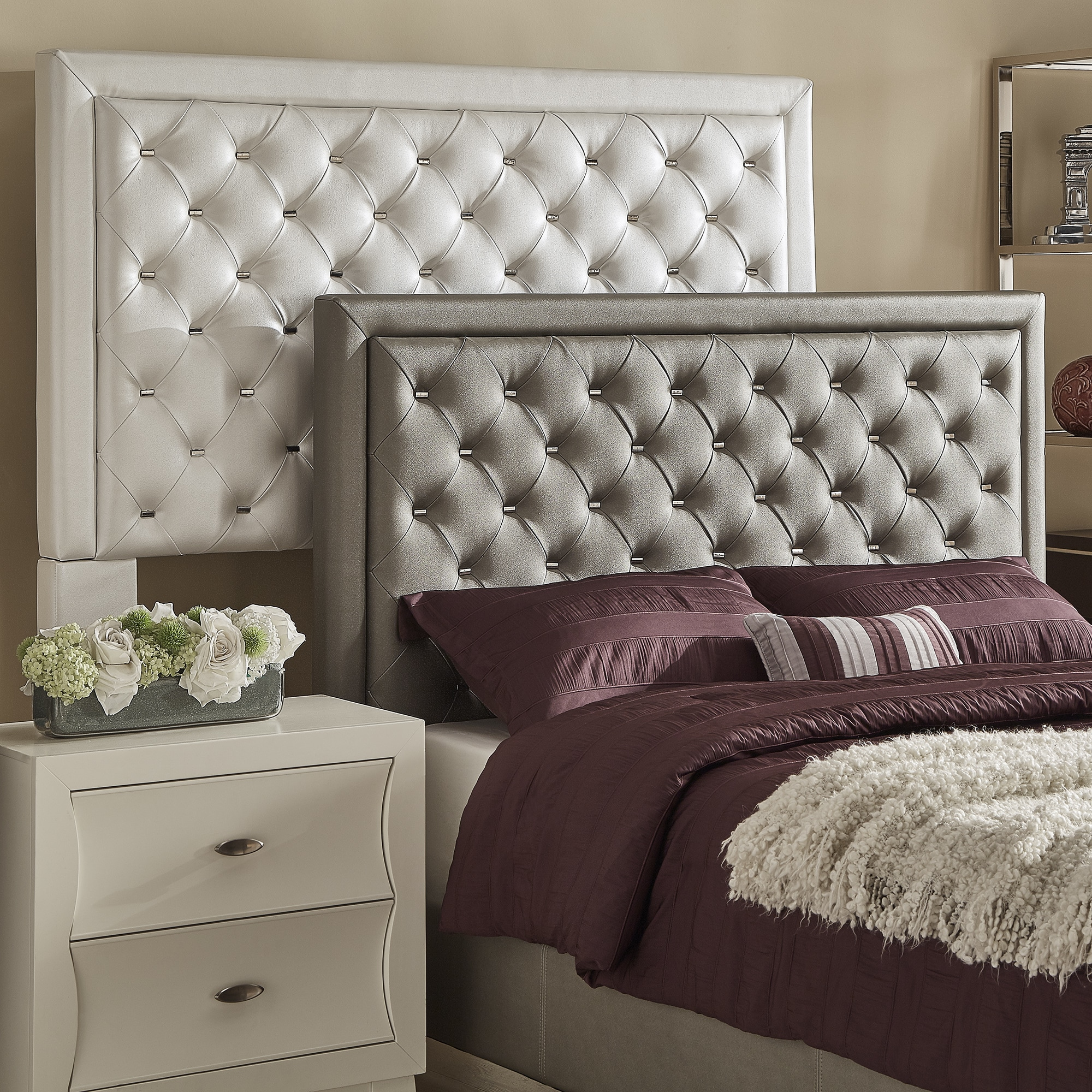 Alayna Faux Leather Tufted Headboard by iNSPIRE Q Bold | eBay
