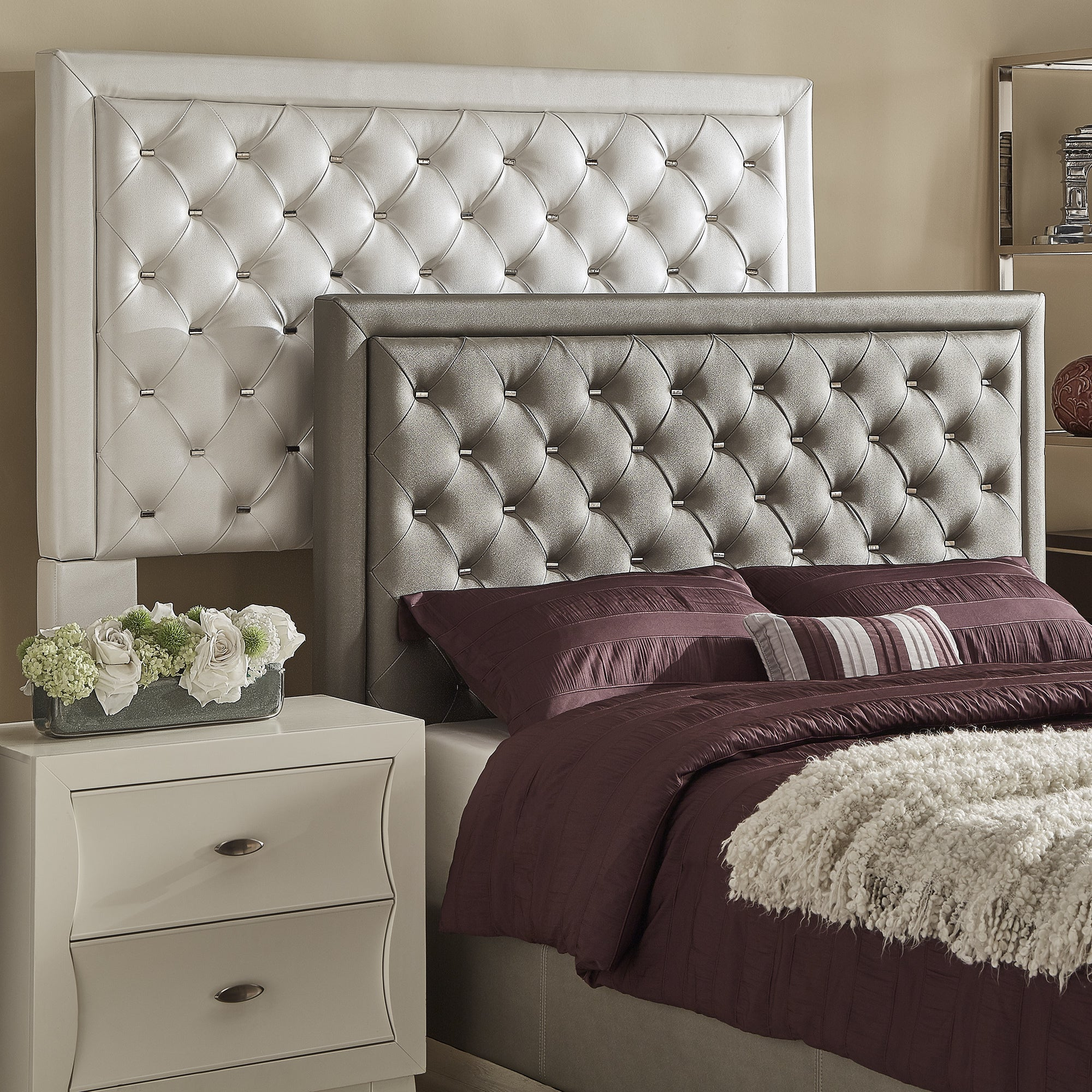 Alayna Faux Leather Tufted Headboard by iNSPIRE Q Bold (S...