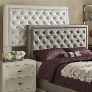 Alayna Faux Leather Tufted Headboard by iNSPIRE Q Bold. Faux Leather Bedroom Furniture For Less   Overstock com