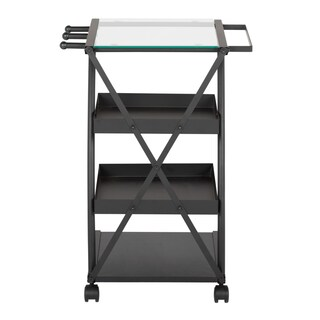 Studio Designs Triflex Taboret (Option: Triflex Taboret Charcoal/Clear Glass)