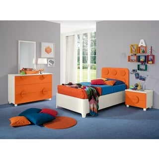 My Youth Orange Kids 4-piece Twin Bedroom Set