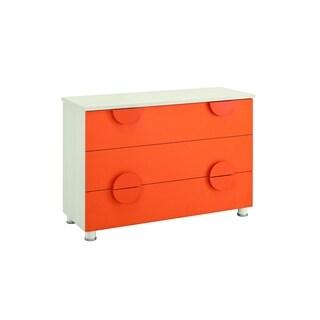 My Youth Orange and White Kids Dresser
