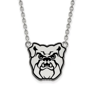 Versil Sterling Silver LogoArt Butler University Enamel Large Pendant with Necklace