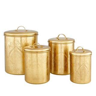 Old Dutch Tangier Champagne Etched Canisters