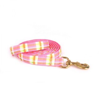"""Red Haute Horse Madras Pink on Pink Polka Dot Lead 1"""" x 96"""""""