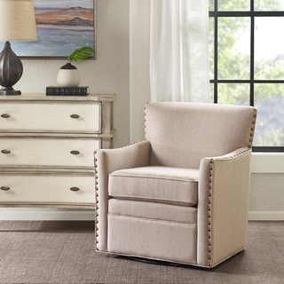 Madison Park Farina Natural Swivel Chair