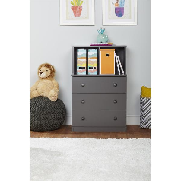 Ameriwood Home Skyler 3 Drawer Dresser With Cubbies