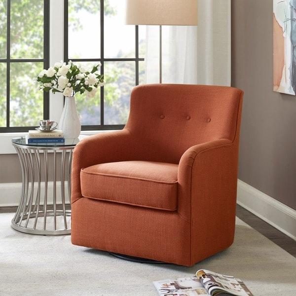 Shop Madison Park Jayne Spice Swivel Chair Free Shipping