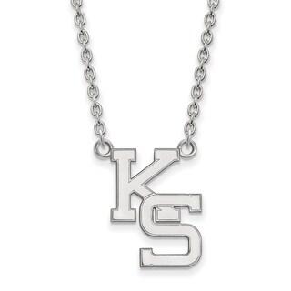 Sterling Silver LogoArt Kansas State University Large Pendant with Necklace