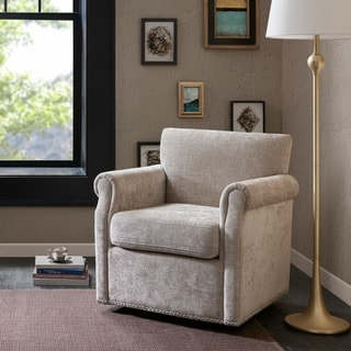 Link to Madison Park Helleman Cream Swivel Chair Similar Items in Accent Chairs
