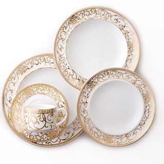Darbie Angell Athena 24Kt Gold 5 Piece Place Setting  sc 1 st  Overstock.com & Bone China Thanksgiving Dinnerware For Less | Overstock