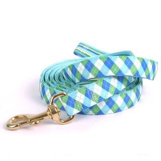"Red Haute Horse Blue Green Argyle w Stripe Lead 1"" x 96"""