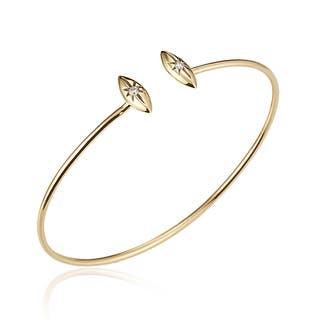 Diamond Marquise Star Cuff Bangle in 14k Yellow Gold (0.08 carats)|https://ak1.ostkcdn.com/images/products/16149108/P22525985.jpg?impolicy=medium