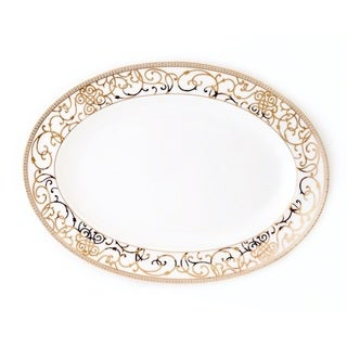 CRU by Darbie Angell Athena 24Kt Gold Oval Platter