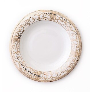 CRU by Darbie Angell Athena 24Kt Gold Rim Soup Bowl