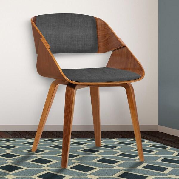 Shop Armen Living Ivy Walnut Wood Upholstered Mid Century