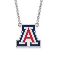 ae7eae04 Versil Sterling Silver LogoArt University of Arizona Large Enamel Pendant  with Necklace