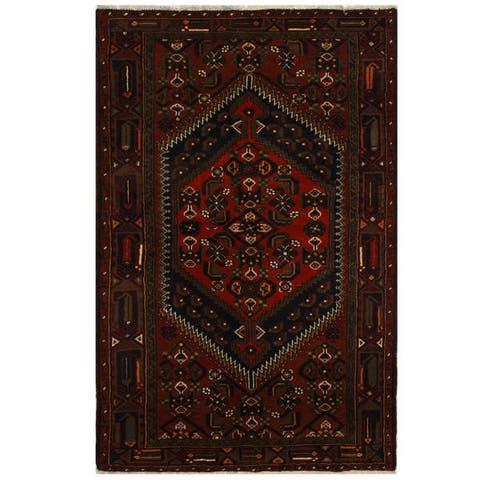 Handmade One-of-a-Kind Hamadan Wool Rug (Iran) - 4'2 x 6'4