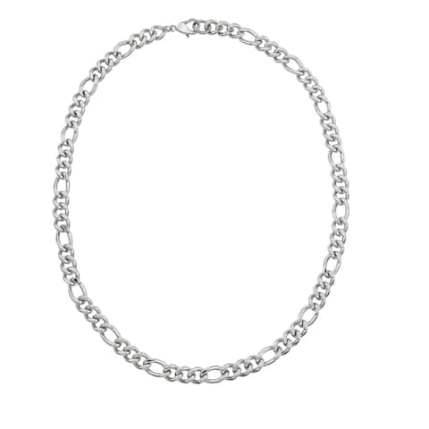 Men's Stainless Steel 24-inch 10mm Chain Necklace - Silver