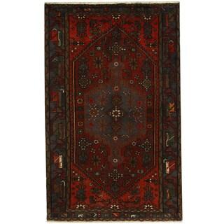 Handmade Hamadan Wool Rug (Iran) - 4'3 x 6'8