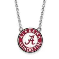 Sterling Silver LogoArt University of Alabama Large Enl Pend. with Necklace