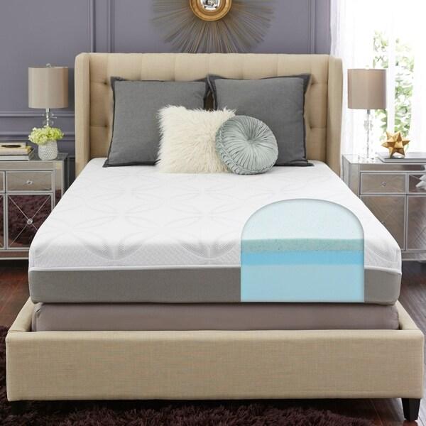 shop trupedic 10 inch full gel memory foam mattress free shipping today overstock 16149446. Black Bedroom Furniture Sets. Home Design Ideas