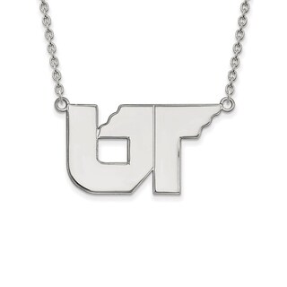 Sterling Silver LogoArt University of Tennessee Large Pendant with Necklace